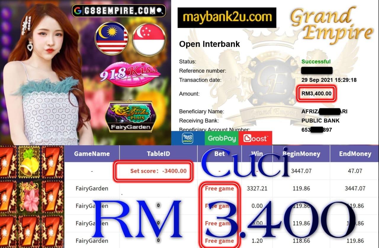 918KISS ORI  -  FAIRY GARDEN CUCI RM3,400!!!