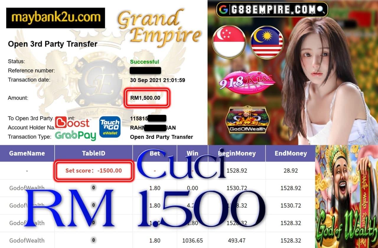 918KISS ORI - GODOFWEALTH CUCI RM1,500!!!