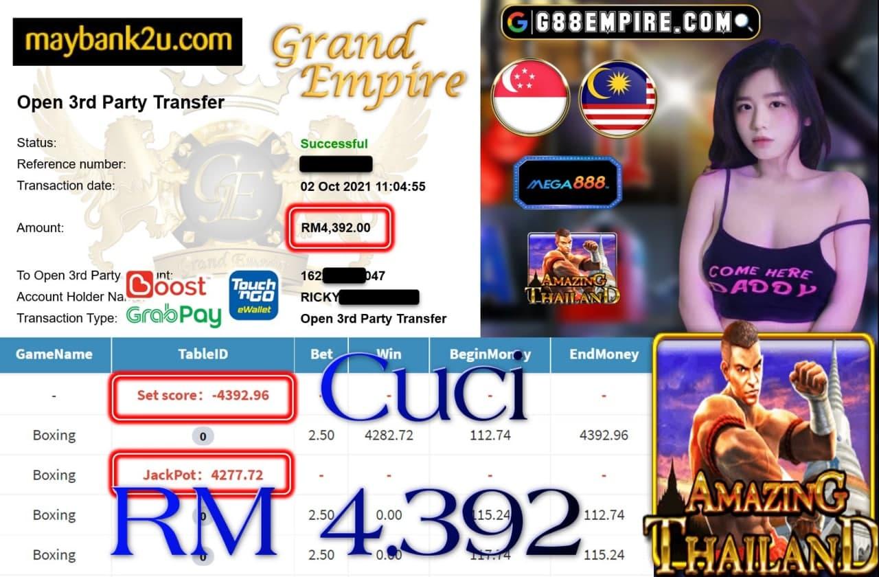 MEGA888 - BOXING CUCI RM4,392 !!!