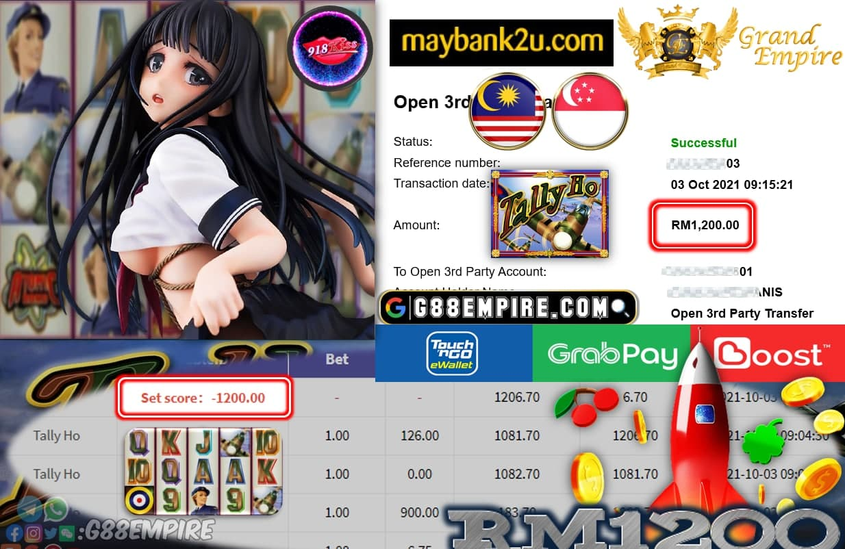 918KISS ORI - TALLY HO CUCI RM1,200!!!