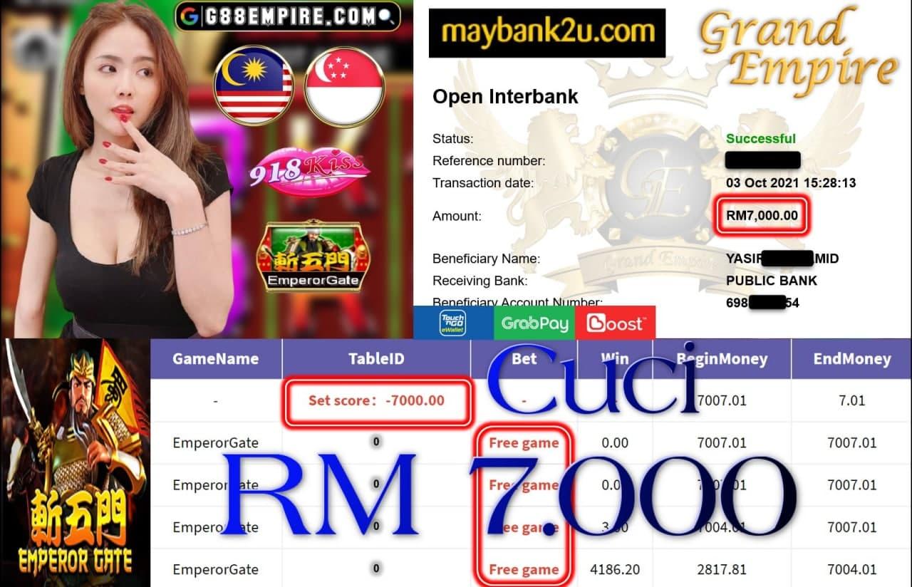 918KISS ORI  - EMPEROR GATE CUCI RM7,000!!!