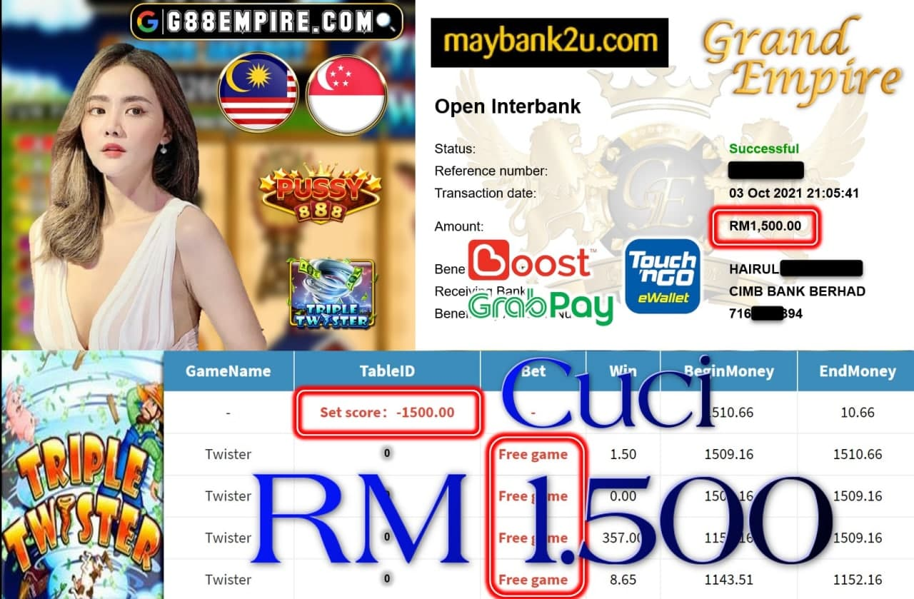 PUSSY888 - TWISTER CUCI RM1,500!!!