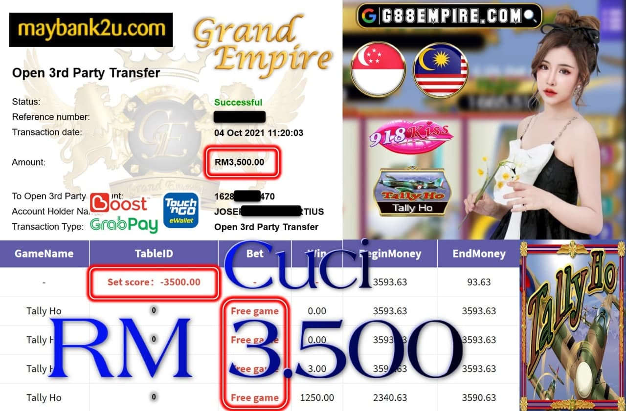 918KISS ORI  - TALLY HO CUCI RM3,500!!!