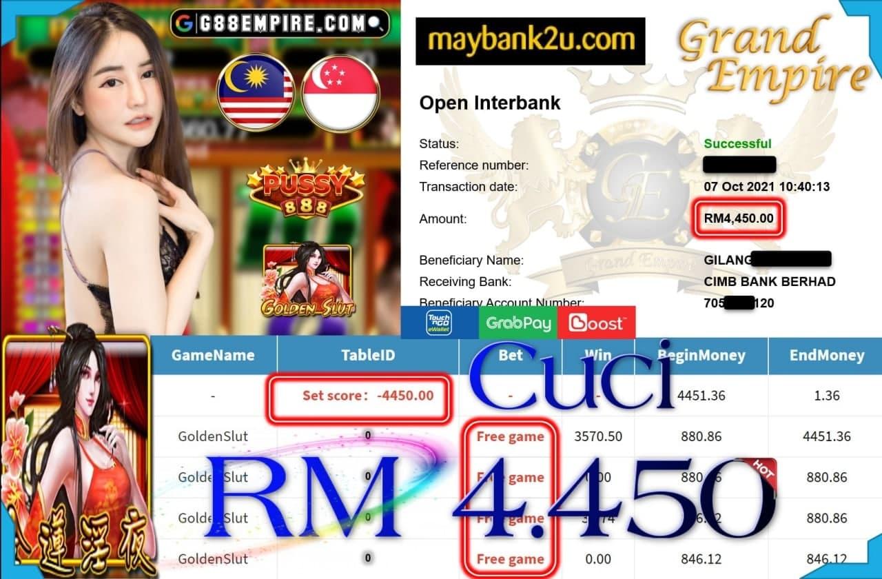 PUSSY888 - GOLDENSLUT CUCI RM4,450!!!