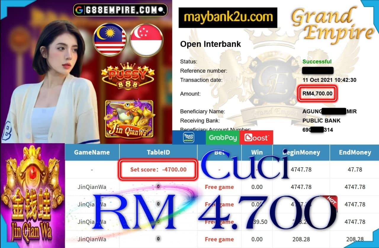 PUSSY888 - JINQIANWA CUCI RM4,700!!!