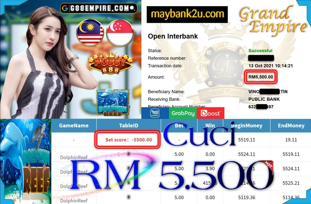 PUSSY888 - DOLPHINREEF CUCI RM5,500!!!