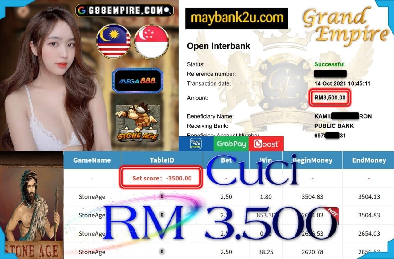 MEGA888 - STONEAGE CUCI RM3,500!!!