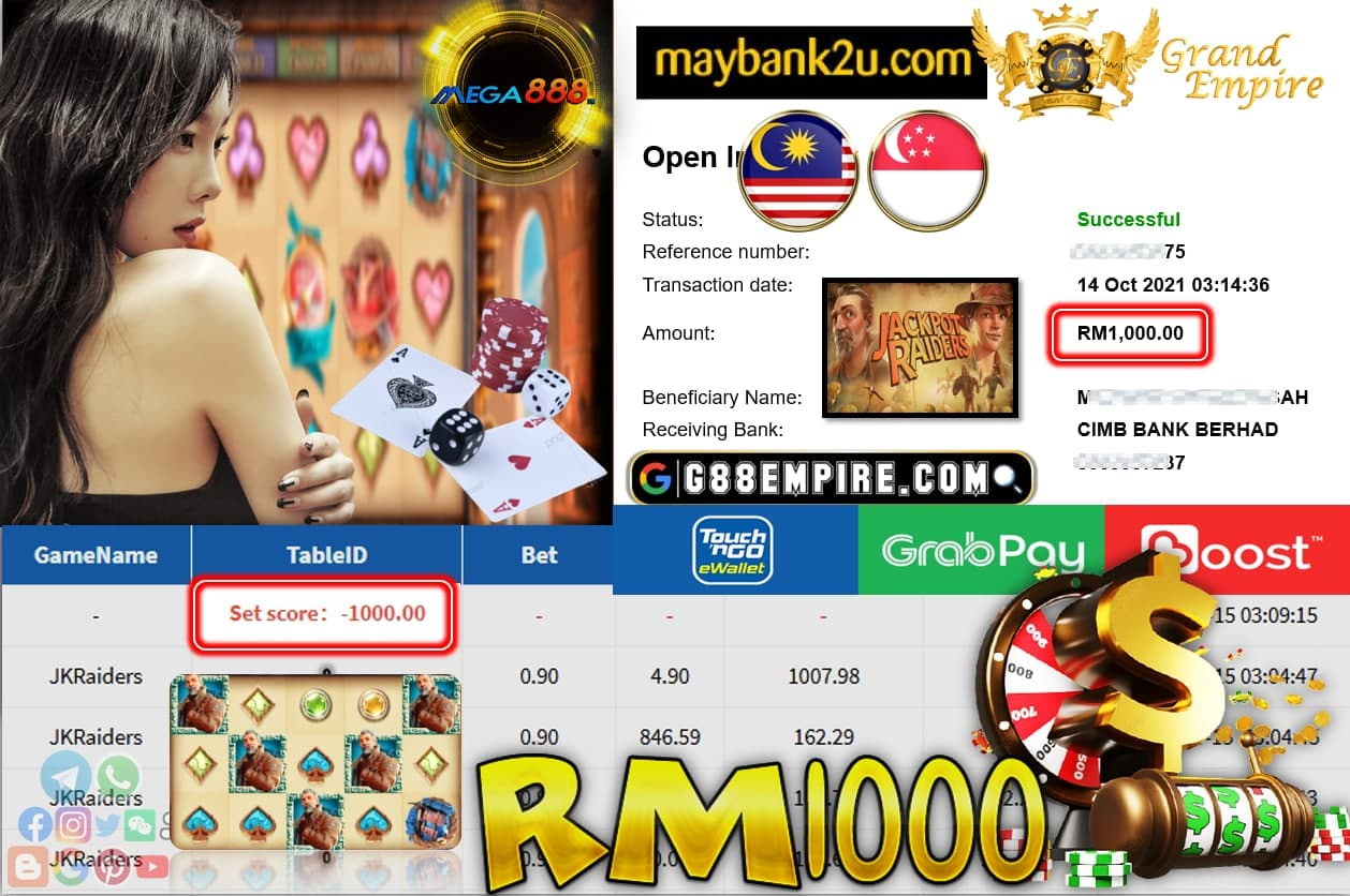 MEGA888 - JKRAIDERS CUCI RM1,000!!!