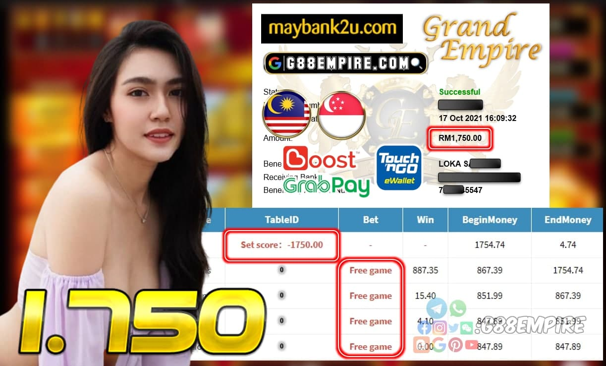 PUSSY888 - FORTUNELIONS CUCI RM 1.750!!!