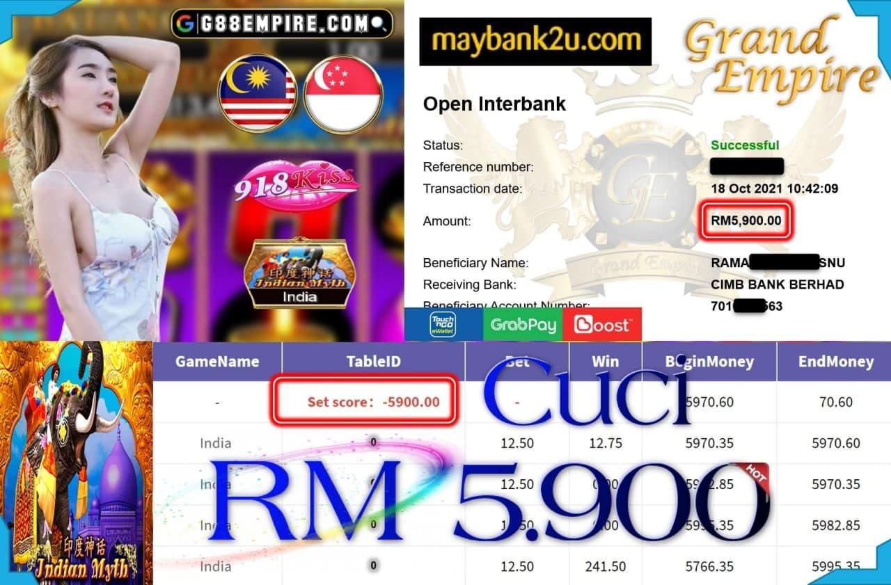 918KISS ORI - INDIA MYTH CUCI RM5,900!!!!